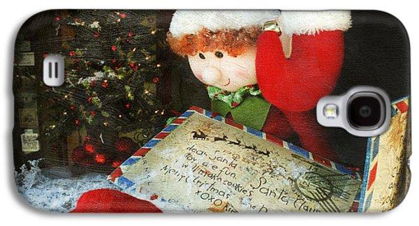 Christmas Elf Galaxy S4 Case by Darren Fisher