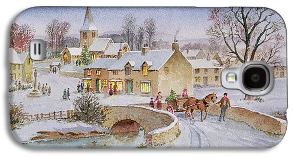 Christmas Eve In The Village  Galaxy S4 Case by Stanley Cooke