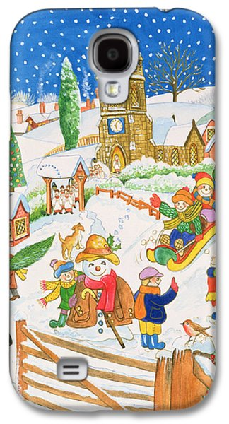 Christmas Eve In The Village Galaxy S4 Case by Tony Todd