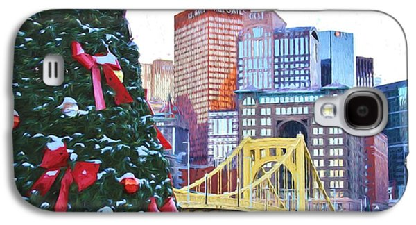 Christmas In The Steel City Van Gogh Style Galaxy S4 Case
