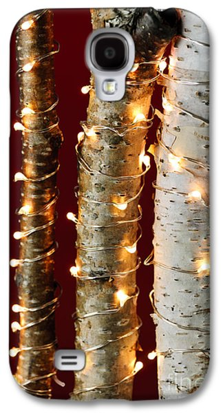 Christmas Lights On Birch Branches Galaxy S4 Case