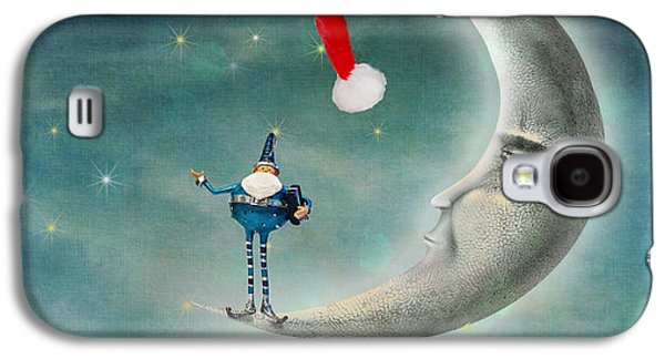 Christmas Moon Galaxy S4 Case