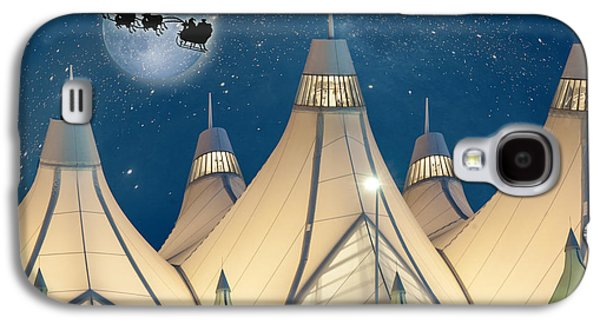 Christmas Night At Denver International Airport Galaxy S4 Case by Juli Scalzi