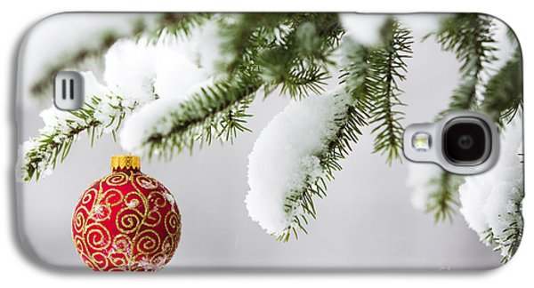 Christmas Ornament In The Snow Galaxy S4 Case by Diane Diederich
