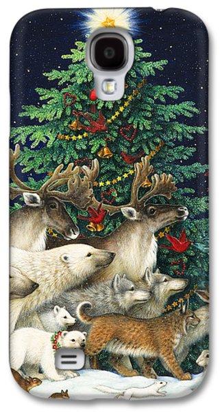 Polar Bear Galaxy S4 Case - Christmas Parade by Lynn Bywaters