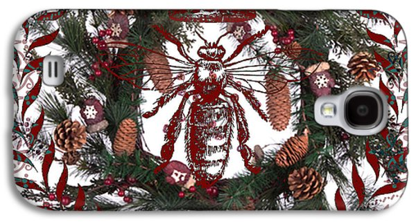 Christmas Queen Bee Galaxy S4 Case