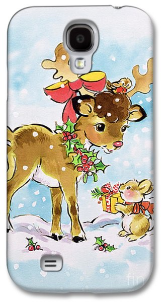 Christmas Reindeer And Rabbit Galaxy S4 Case