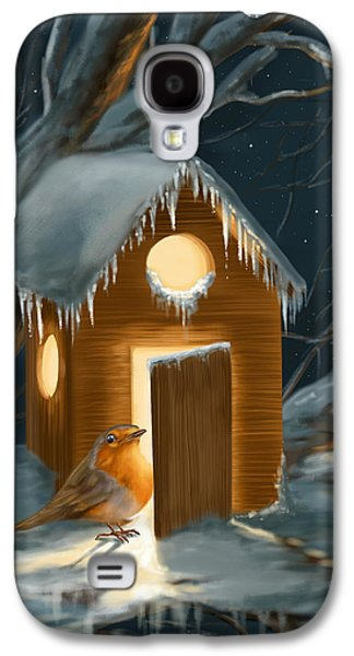 Christmas Robin Galaxy S4 Case
