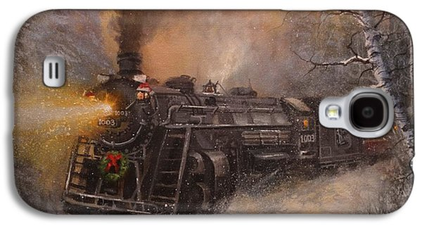 Christmas Train In Wisconsin Galaxy S4 Case by Tom Shropshire
