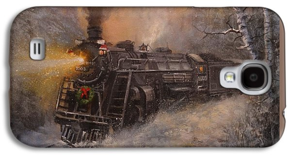 Christmas Train In Wisconsin Galaxy S4 Case