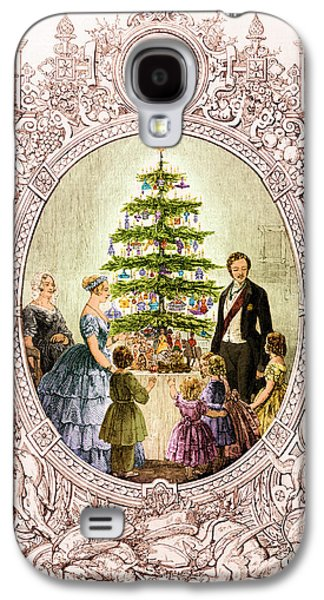 Christmas Tree At Windsor Castle 1848 Galaxy S4 Case by Photo Researchers