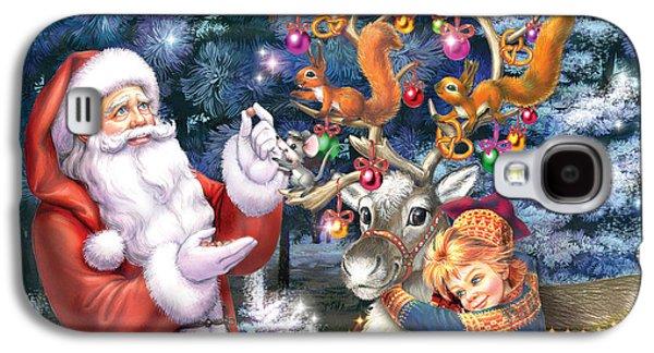 Christmas Tree-rudolph Galaxy S4 Case by Zorina Baldescu