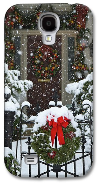 Christmas Wreaths And A Rare Holiday Galaxy S4 Case by William Sutton