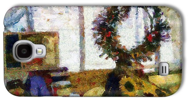 Christmastime Folk Art Fantasia Galaxy S4 Case