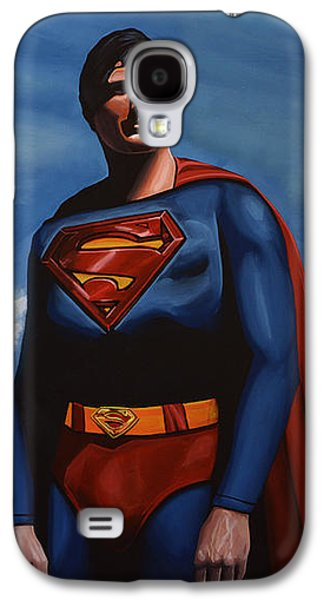 Christopher Reeve As Superman Galaxy S4 Case by Paul Meijering