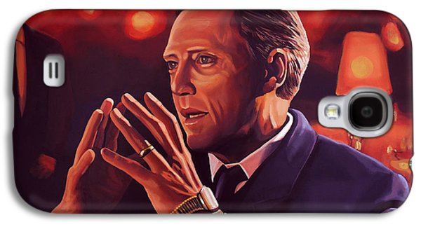 Christopher Walken Painting Galaxy S4 Case by Paul Meijering