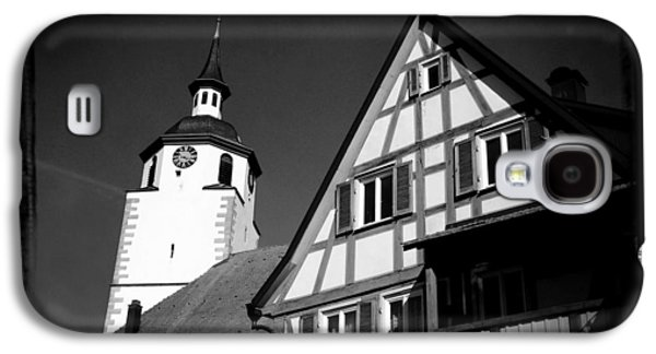 Church And Half-timbered House In Lovely Old Town Galaxy S4 Case