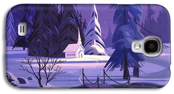 Church In Snow Galaxy S4 Case by Michael Humphries