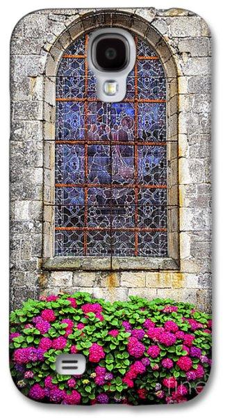 Church Window In Brittany Galaxy S4 Case by Elena Elisseeva