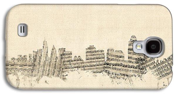 Cincinnati Ohio Skyline Sheet Music Cityscape Galaxy S4 Case by Michael Tompsett