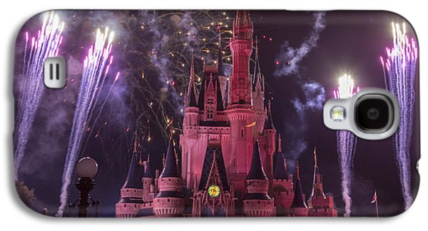 Cinderella's Castle With Fireworks Galaxy S4 Case by Adam Romanowicz