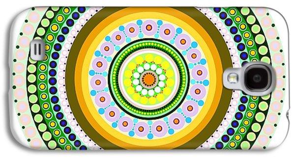 Circle Motif 237 Galaxy S4 Case by John F Metcalf