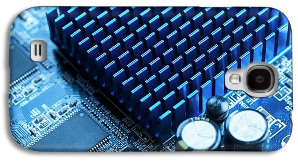 Circuit Board Heat Sink Galaxy S4 Case by Science Photo Library