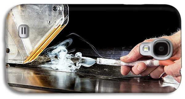 Circular Saw Guard Safety Test Galaxy S4 Case by Crown Copyright/health & Safety Laboratory Science Photo Library
