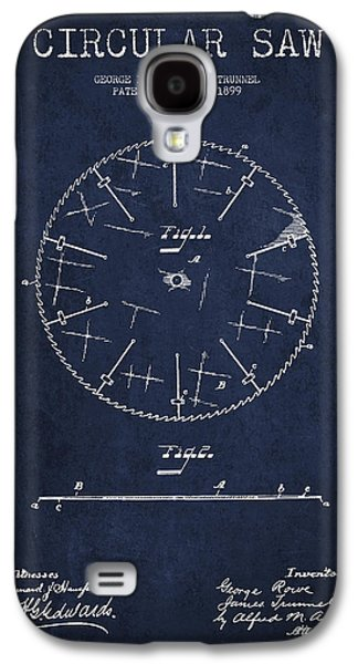 Circular Saw Patent Drawing From 1899 Galaxy S4 Case by Aged Pixel