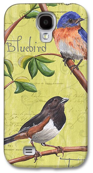 Bluebird Galaxy S4 Case - Citron Songbirds 1 by Debbie DeWitt