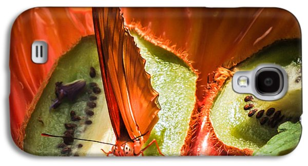 Citrus Butterfly Galaxy S4 Case by Karen Wiles