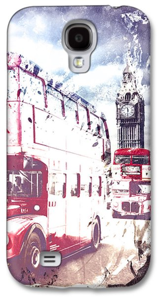 City-art London Red Buses On Westminster Bridge Galaxy S4 Case