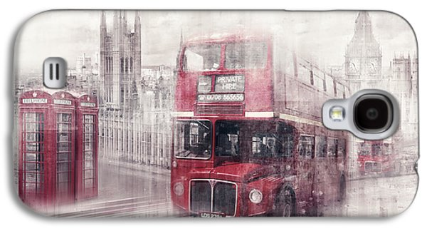 City-art London Westminster Collage II Galaxy S4 Case by Melanie Viola