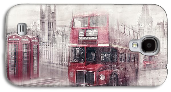 City-art London Westminster Collage II Galaxy S4 Case by Melanie Viola
