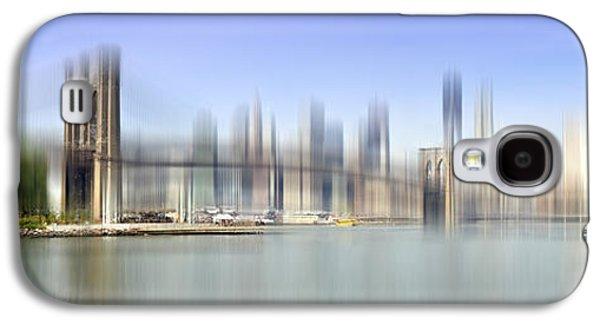 City-art Manhattan Skyline I Galaxy S4 Case by Melanie Viola