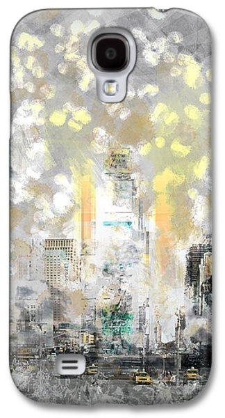 City-art Manhattan Sunflower Galaxy S4 Case by Melanie Viola