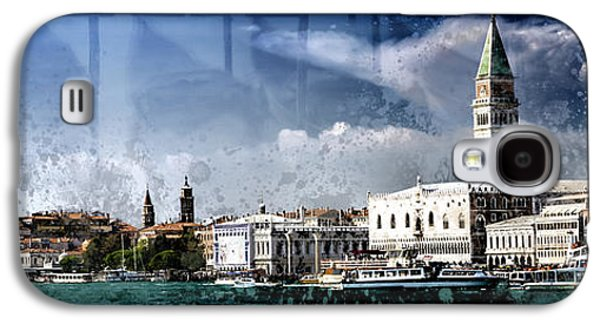 City-art Venice Panoramic Galaxy S4 Case by Melanie Viola