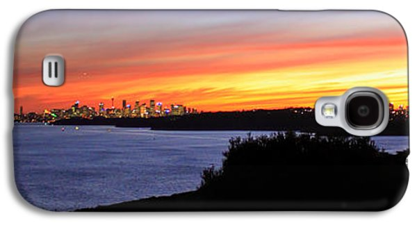Galaxy S4 Case featuring the photograph City Lights In The Sunset by Miroslava Jurcik