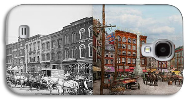 City - Norfolk Va - Hardware And Liquor - 1905 - Side By Side Galaxy S4 Case by Mike Savad