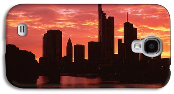 Cityscape, Rhine River, Frankfurt Galaxy S4 Case by Panoramic Images