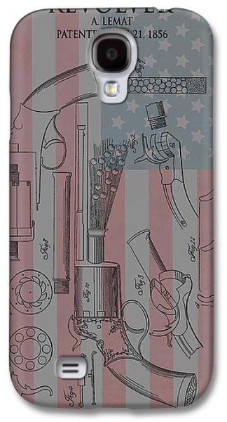 Civil War Revolver American Flag Galaxy S4 Case