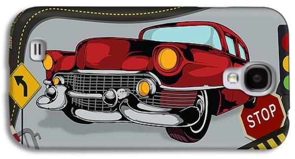 Classic Cars 05 Galaxy S4 Case by Bedros Awak