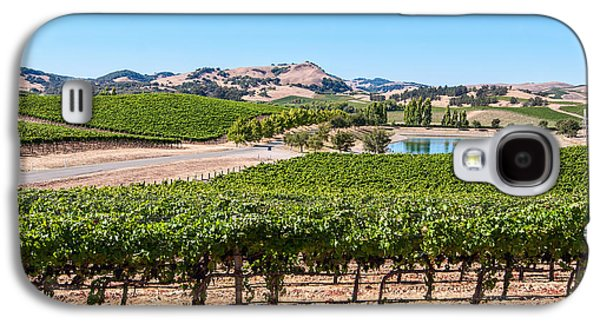 Classic Napa - Cuvaison Winery And Vineyard In Napa Valley. Galaxy S4 Case by Jamie Pham