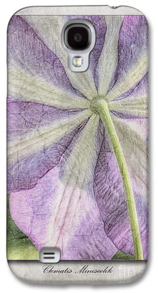 Clematis Miniseelik  Galaxy S4 Case by John Edwards