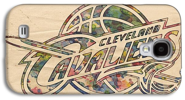 Cleveland Cavaliers Poster Art Galaxy S4 Case by Florian Rodarte