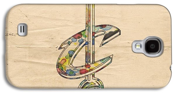 Cleveland Cavs Retro Poster Galaxy S4 Case