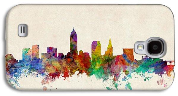 Cleveland Ohio Skyline Galaxy S4 Case by Michael Tompsett