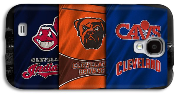 Cleveland Sports Teams Galaxy S4 Case by Joe Hamilton