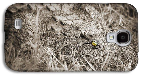Crocodile Galaxy S4 Case - Close Crocodile  by Delphimages Photo Creations