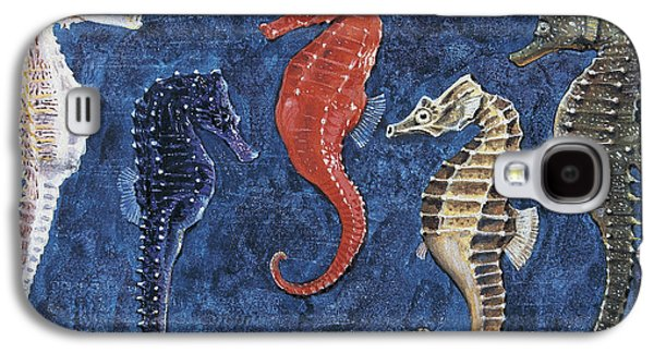 Close-up Of Five Seahorses Side By Side  Galaxy S4 Case by English School